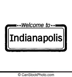 Welcome to Indianapolis City illustration design
