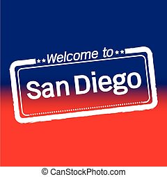 Welcome to San Diego City illustration design