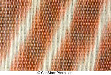 striped place mat in white and brown