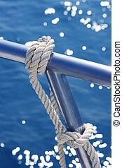 marine knot detail stainless steel boat railing