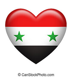 Syria Insignia Heart Shape - Heart shape of Syria flag...