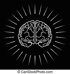 Brain with light burst