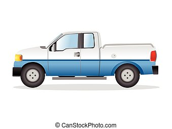 Illustration of a pick up truck - Graphic illustration of a...