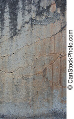 dirty worn orange gray concrete wall with elegant cracks and drips