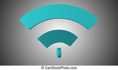 Wi-Fi network icon animation. Seamless loop