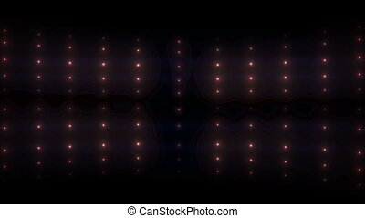 Bright flood lights glow background. Wall of lights....