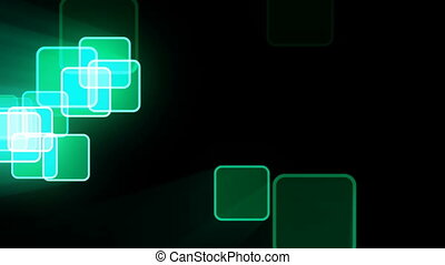 Motion background with animated squares. Seamless loop.
