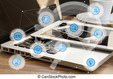wireless communication network - Modern devices and and...