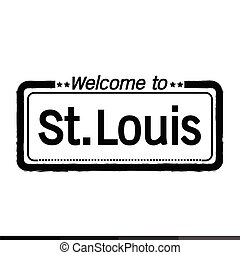 Welcome to St. Louis City illustration design