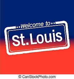 Welcome to St Louis City illustration design
