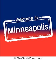 Welcome to Minneapolis City illustration design