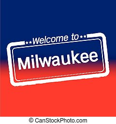 Welcome to Milwaukee City illustration design