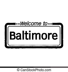 Welcome to Baltimore City illustration design