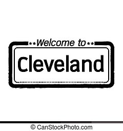 Welcome to Cleveland City illustration design