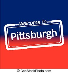 Welcome to Pittsburgh City illustration design