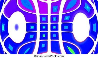 computer interface,color square deform texture
