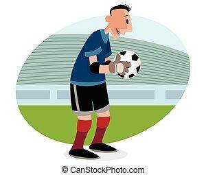 Goalie with ball