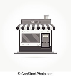 Vector illustration of store building