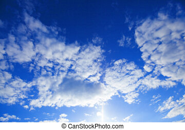 photographed the sky with clouds - part of the sky...