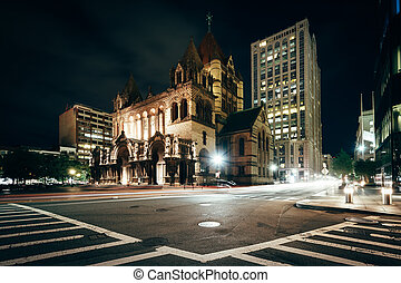 Trinity Church and the intersection of Saint James Avenue...