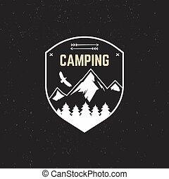 Stamp for outdoor camp Tourism hipster style patch and badge...