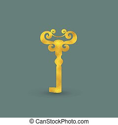 Golden Old-Fashioned Key