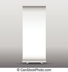 Blank roll up advertising banner - Illustration of a blank...