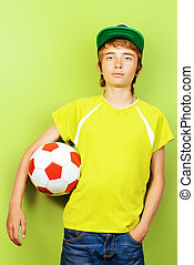 sportsmanship - Studio portrait of a boy teenager with...