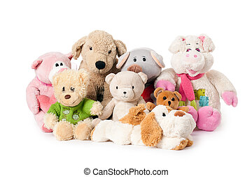 stuffed animals - photo shot of stuffed animals