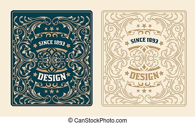 Retro Design with Floral Ornaments