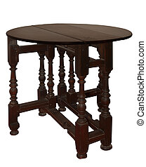 Antique Extension Table isolated with clipping path