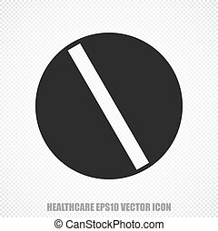 Health vector Pill icon Modern flat design - The universal...