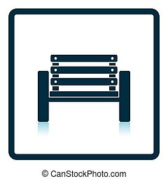 Tennis player bench icon. Shadow reflection design. Vector...
