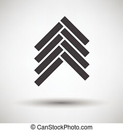 Parquet icon on gray background, round shadow. Vector...