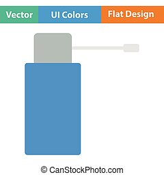 Inhalator icon Flat color design Vector illustration