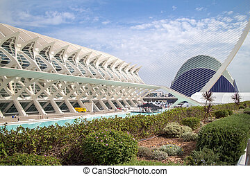City of arts and sciences in Valencia , Spain