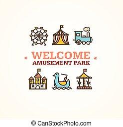 Amusement Park Embleme. Vector