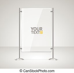 Glass Screen Banner. Vector