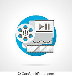 Film reel color detailed vector icon - Reel of film,...