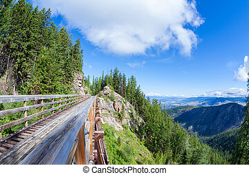 Historic Trestle at Myra Canyon Provincial Park, Canada - A...