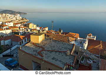 old town of Kavala, Greece - Panoramic view to old town of...