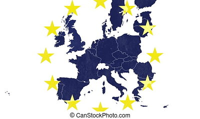Brexit - EU textured map, white bg - Brexit - EU textured...