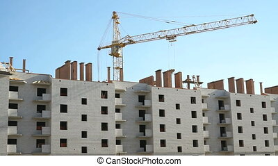 Construction of multi-storey brick building - Construction...