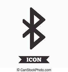 Bluetooth sign icon Mobile network symbol Data transfer...