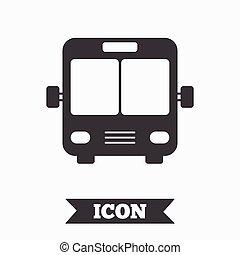 Bus sign icon Public transport symbol Graphic design element...