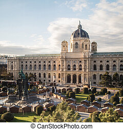 Natural History Museum in Maria-Theresien-Platz in Vienna,...