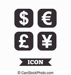 Currency exchange sign icon Currency converter - Currency...