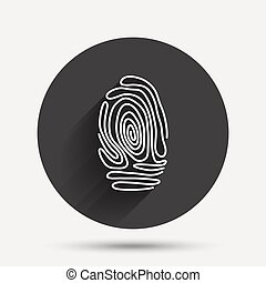Fingerprint sign icon Identification symbol - Fingerprint...