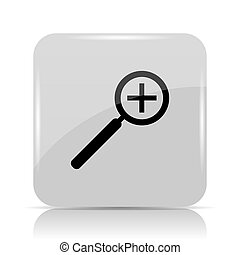 Zoom in icon Internet button on white background