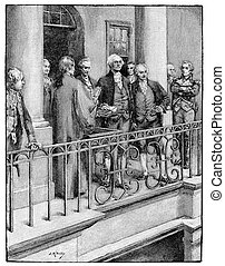 George Washington Inauguration - George Washington, first...